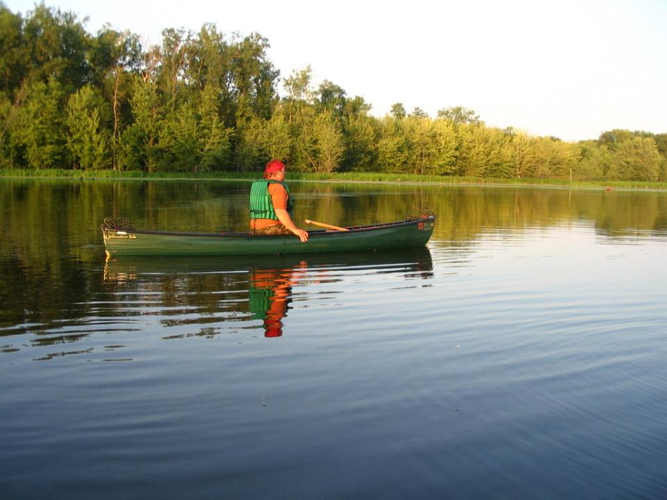 Canoe on Lake Rebecca