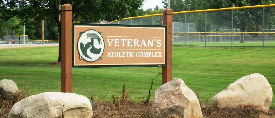 Veterans Park Sign Wide